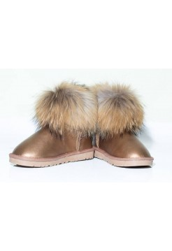 UGG CLASSIC MINI RACCOON GOLD