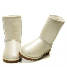 UGG Classic Short Leather WHITE (Н355)