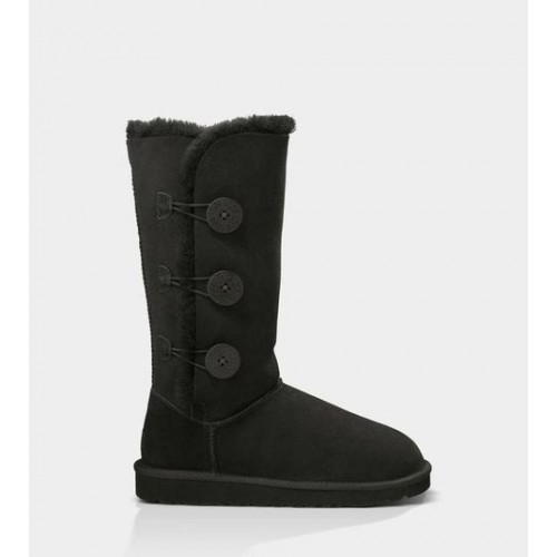 UGG BAILEY BUTTON TRIPLET black