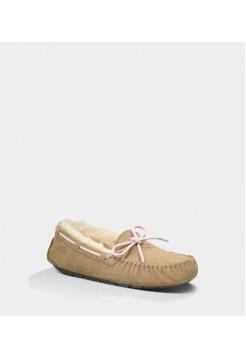 Мокасины UGG Dakota Slipper Бежевые (А633)