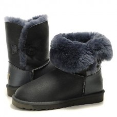 Купить АКЦИЯ! UGG Bailey Button Leather Grey в Украине