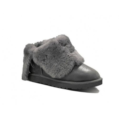 АКЦИЯ! UGG Bailey Button Leather Grey