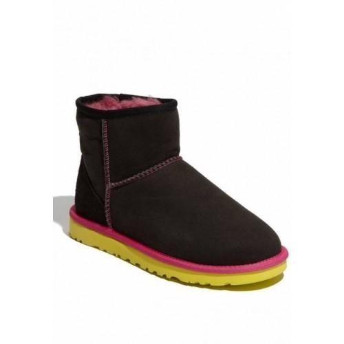 Купить UGG WOMENS CLASSIC MINI Black Yellow в Украине