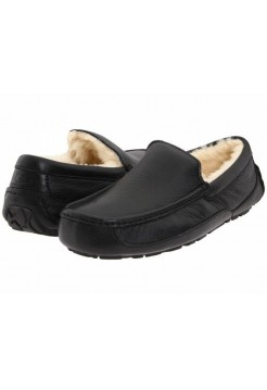 Купить UGG Ascot Leather Black В Украине