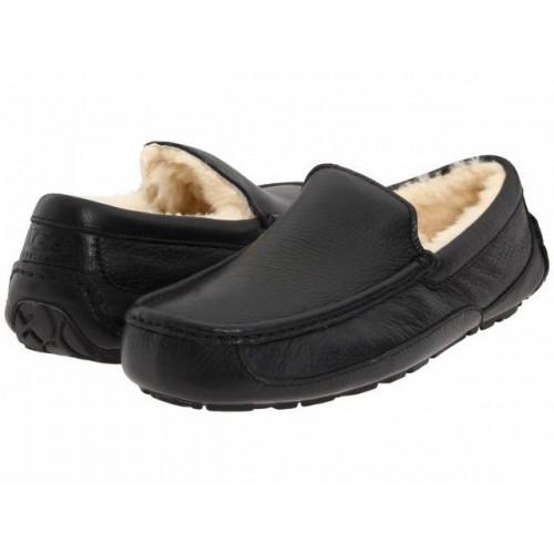 Купить UGG Ascot Leather Black в Украине