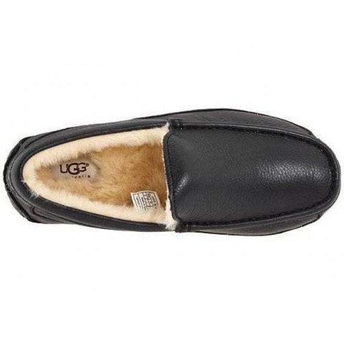 UGG Ascot Leather Black (E164)