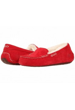 UGG ANSLEY SLIPPERS RED
