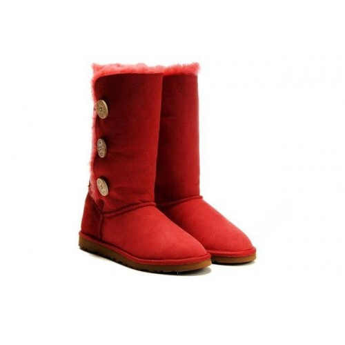 Купить UGG BAILEY BUTTON TRIPLET RED в Украине
