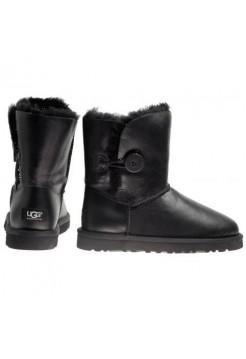 Купить UGG BAILEY BUTTON Leather Кожа черный (Н611) В Украине