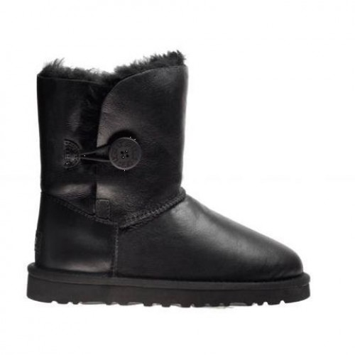 UGG BAILEY BUTTON Leather Кожа черный (Н611)