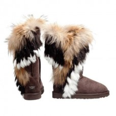 UGG Classic Tall Fox Chokolate Коричневый