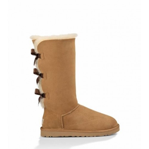 Купить UGG Bailey Bow Tall Chestnut в Украине