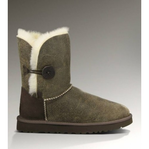 Купить UGG Bailey Button Bomber Grey/Chocolate в Украине