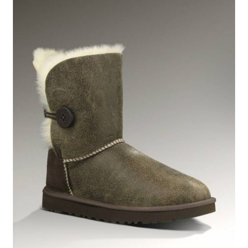 UGG Bailey Button Bomber Grey/Chocolate