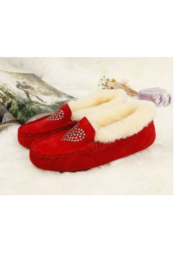 Купить UGG Kids Annemarie Heart Red В Украине