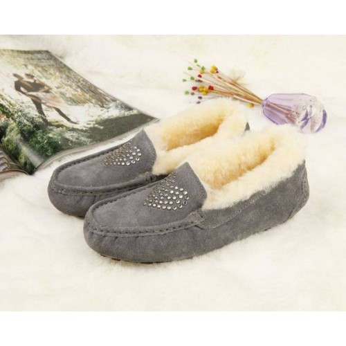 Купить UGG Kids Annemarie Heart Gray в Украине