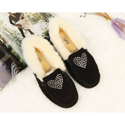 Купить UGG Kids Annemarie Heart Black в Украине