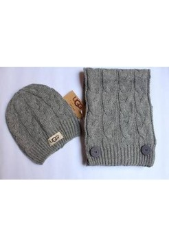 Купить Набор шапка и шарф Серый В Украине