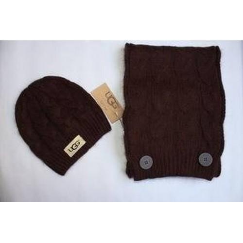 Купить Набор шапка и шарф Коричневый в Украине
