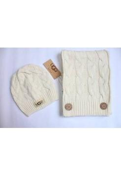 Купить Набор шапка и шарф Белый В Украине