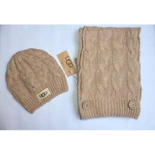 Купить Набор шапка и шарф Беж в Украине