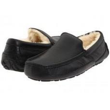 Купить АКЦИЯ UGG MENS Ascot Leather Black HOT в Украине