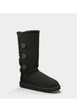 АКЦИЯ! UGG BAILEY BUTTON TRIPLET black HOT