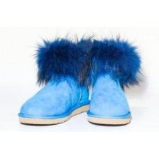Купить АКЦИЯ! Угги TALL RACCOON STYLE синие HOT в Украине