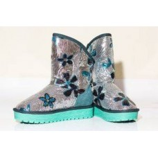 АКЦИЯ! Угги SEQUINS FLOWER TURQUOISE HOT