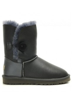 UGG Bailey Button Leather Grey (НО597)