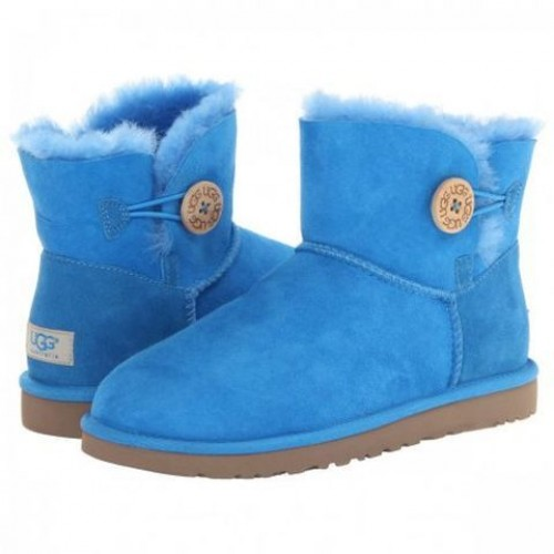 Купить UGG Bailey Button Mini Light Blue в Украине