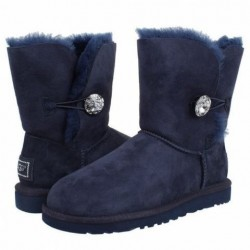 Купить UGG Bailey Button Bling Blue в Украине