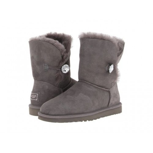 Купить UGG Bailey Button Bling Grey в Украине