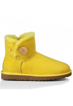 Купить UGG Bailey Button Mini Yellow В Украине
