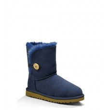 Детские угги UGG Kids Bailey Button Blue -2