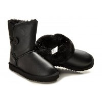 UGG Baby Bailey Button Leather Black (О-633)