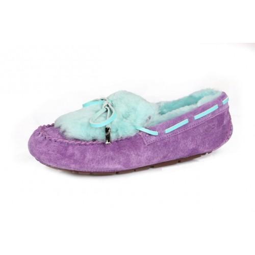 Купить Мокасины UGG Dakota Fur Purple Blue (О-521) в Украине