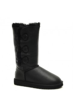 UGG Bailey Button Triplet Leather Black