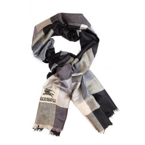 Кашемировый шарфик Burberry Серый