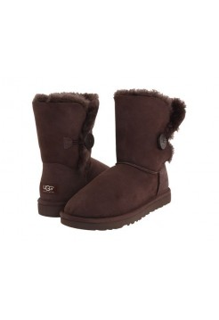 АКЦИЯ! UGG BAILEY BUTTON Chocolate HOT