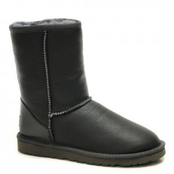 UGG Classic Short Leather Серые