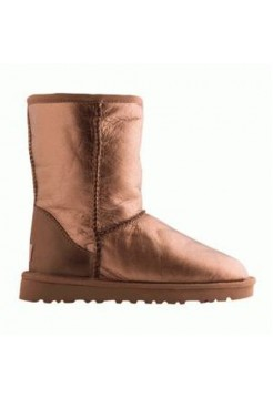 Купить UGG Classic Short LEATHER Gold (М478) В Украине