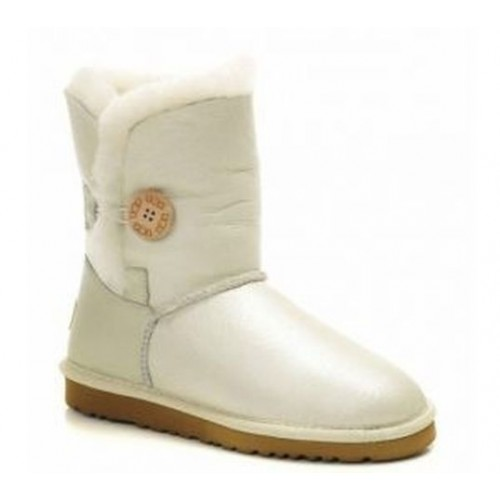 Купить UGG Bailey Button Белые Кожа (S163) в Украине
