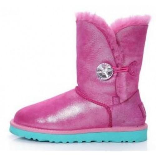 Купить UGG Bailey Button Bling Розовый в Украине
