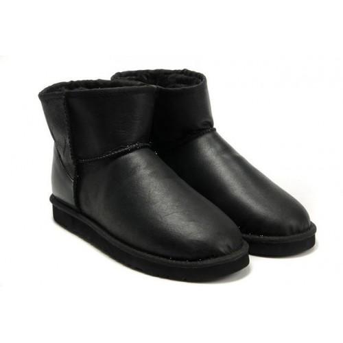 Купить UGG Classic Mini Leather Black All в Украине