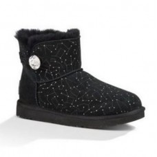 UGG Bailey Button Mini Constellation Созвездия Черные