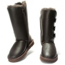 UGG BAILEY BUTTON TRIPLET Шоколад Кожа