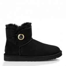 UGG Mini Bailey Button Ornate Black
