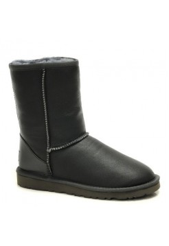 UGG Classic Short Leather Men Серые (S611)