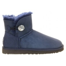 Купить UGG Mini Bailey Button Bling Blue в Украине